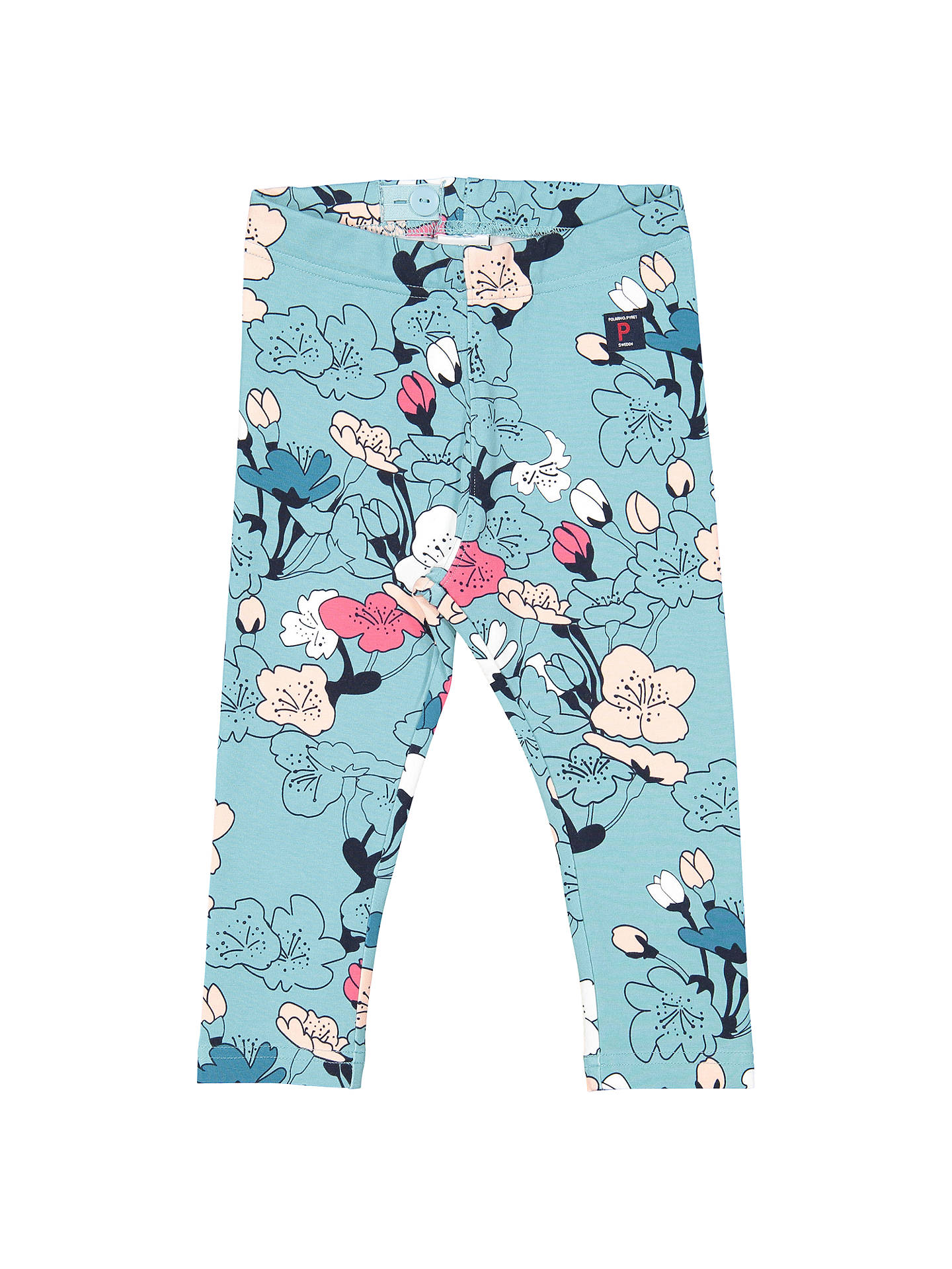 9c4ca47cd Polarn O. Pyret Baby Floral Leggings, Blue at John Lewis & Partners