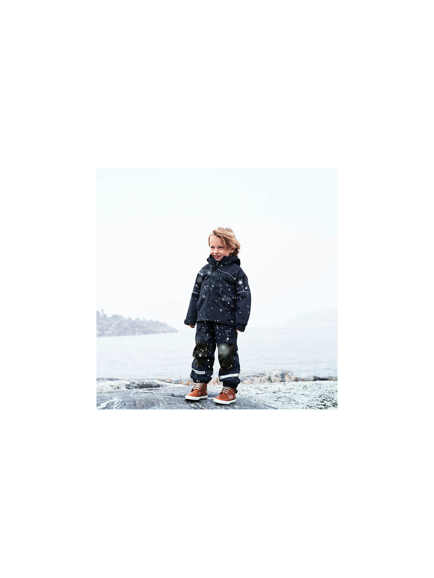 Buy Polarn O. Pyret Baby Shell Coat, Navy, 6-9 months Online at johnlewis.com