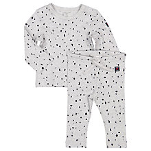 Buy Polarn O. Pyret Baby Spot Top and Leggings Set, Grey Online at johnlewis.com