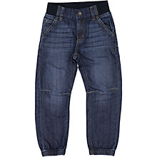 Buy Polarn O. Pyret Children's Cuffed Denim Jeans, Blue Online at johnlewis.com