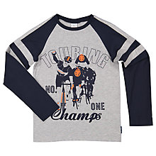 Buy Polarn O. Pyret Children's Champ Cycling Print Top, Grey Online at johnlewis.com