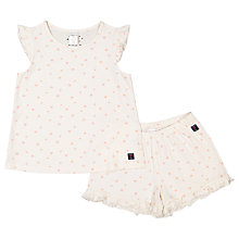 Buy Polarn O. Pyret Children's Heart Pyjamas, Cream Online at johnlewis.com