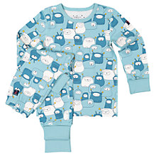 Buy Polarn O. Pyret Children's Space People Print Pyjamas, Blue Online at johnlewis.com