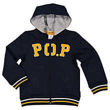 Buy Polarn O. Pyret Children's PO.P Hoodie, Blue Online at johnlewis.com