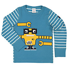 Buy Polarn O. Pyret Children's Applique Long Sleeve Top Online at johnlewis.com