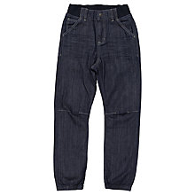 Buy Polarn O. Pyret Children's Cuff Denim Jeans, Blue Online at johnlewis.com