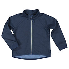 Buy Polarn O. Pyret Baby Soft Shell Jacket, Navy Online at johnlewis.com