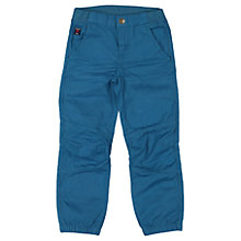 Buy Polarn O. Pyret Childrens' Cargo Trousers, Teal Online at johnlewis.com