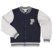 Buy Polarn O. Pyret Children's Baseball Jacket, Blue Online at johnlewis.com