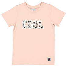 Buy Polarn O. Pyret Children's Cool Cow Print T-Shirt, Pink Online at johnlewis.com