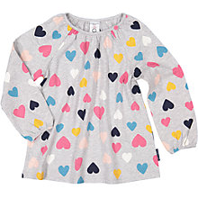 Buy Polarn O. Pyret Children's Heart Tunic, Grey/Multi Online at johnlewis.com