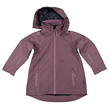 Buy Polarn O. Pyret Children's Long Shell Coat, Purple Online at johnlewis.com
