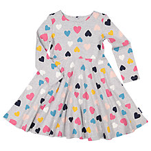 Buy Polarn O. Pyret Girls' Heart Dress, Grey Online at johnlewis.com
