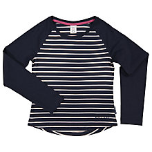 Buy Polarn O. Pyret Children's Striped Long Sleeve T-Shirt, Blue Online at johnlewis.com