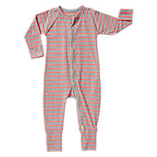 Buy Bonds Baby Ribby Kamikaze Striped Long Sleeve Wondersuit, Coral Online at johnlewis.com