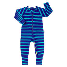 Buy Bonds Baby Ribby Life Striped Long Sleeve Wondersuit, Teal Online at johnlewis.com