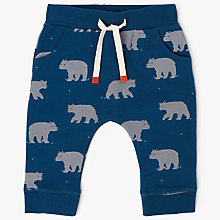 Buy John Lewis Baby Bear Joggers, Blue Online at johnlewis.com