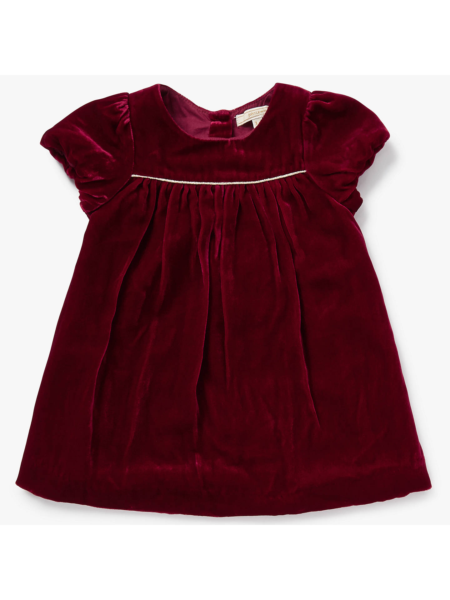 3b8ea602a John Lewis Heirloom Collection Baby Velvet Dress
