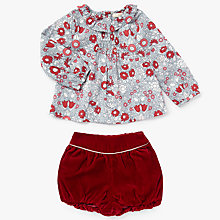 Buy John Lewis Heirloom Collection Baby Daisy Chain Top & Shorts Set, Red Online at johnlewis.com