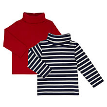 Buy John Lewis Baby Roll Neck Tops, Pack of 2, Multi Online at johnlewis.com