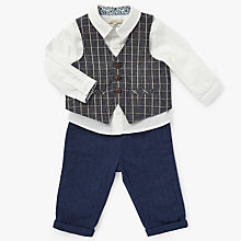 Buy John Lewis Heirloom Collection Baby 3 Piece Set, Navy Online at johnlewis.com