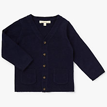 Buy John Lewis Heirloom Collection Baby Knit Cardigan, Navy Online at johnlewis.com