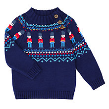 Buy John Lewis Baby Soliders Jumper, Navy Online at johnlewis.com