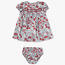 Buy John Lewis Heirloom Collection Baby Daisy Chain Dress and Knickers Set, Red/Blue Online at johnlewis.com