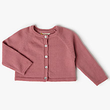 Buy John Lewis Heirloom Collection Baby Knit Cardigan, Pink Online at johnlewis.com
