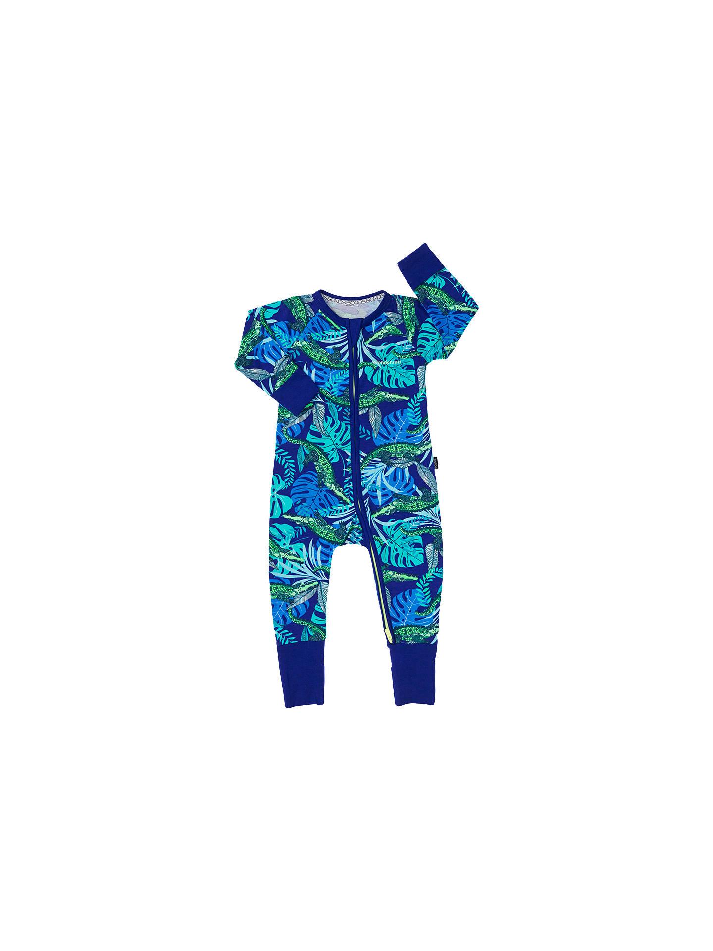 Buy Bonds Baby Ribby Airlie Croc Wondersuit, Blue, Green, Newborn Online at johnlewis ...