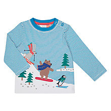 Buy John Lewis Baby Skiing Animals Top, Multi Online at johnlewis.com