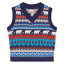 Buy John Lewis Fairisle Knit Tank Top, Multi Online at johnlewis.com