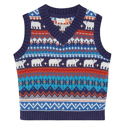 Buy John Lewis Baby Fairisle Knit Tank Top, Multi   John Lewis