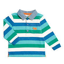 Buy John Lewis Baby Stripe Rugby Top, Multi Online at johnlewis.com