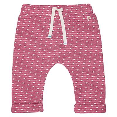 John Lewis Baby Spot Joggers, Berry