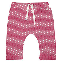 Buy John Lewis Baby Spot Joggers, Berry Online at johnlewis.com