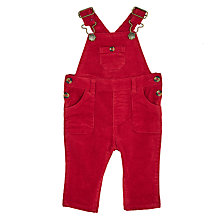 Buy John Lewis Baby Stretch Dungarees, Red Online at johnlewis.com