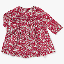 Buy John Lewis Heirloom Collection Baby Ditsy Floral Dress and Knickers Set, Red Online at johnlewis.com