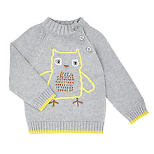 Buy John Lewis Baby Intarsia Owl Jumper, Oatmeal Online at johnlewis.com