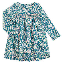 Buy John Lewis Heirloom Collection Baby Floral Ditsy Dress, Blue Online at johnlewis.com