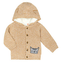 Buy John Lewis Baby Cat Hooded Cardigan, Brown Online at johnlewis.com