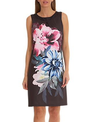 Betty Barclay Floral Print Dress, Black/Pink
