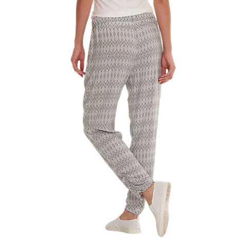 Buy Betty Barclay Printed Trousers, Grey/Cream Online at johnlewis.com