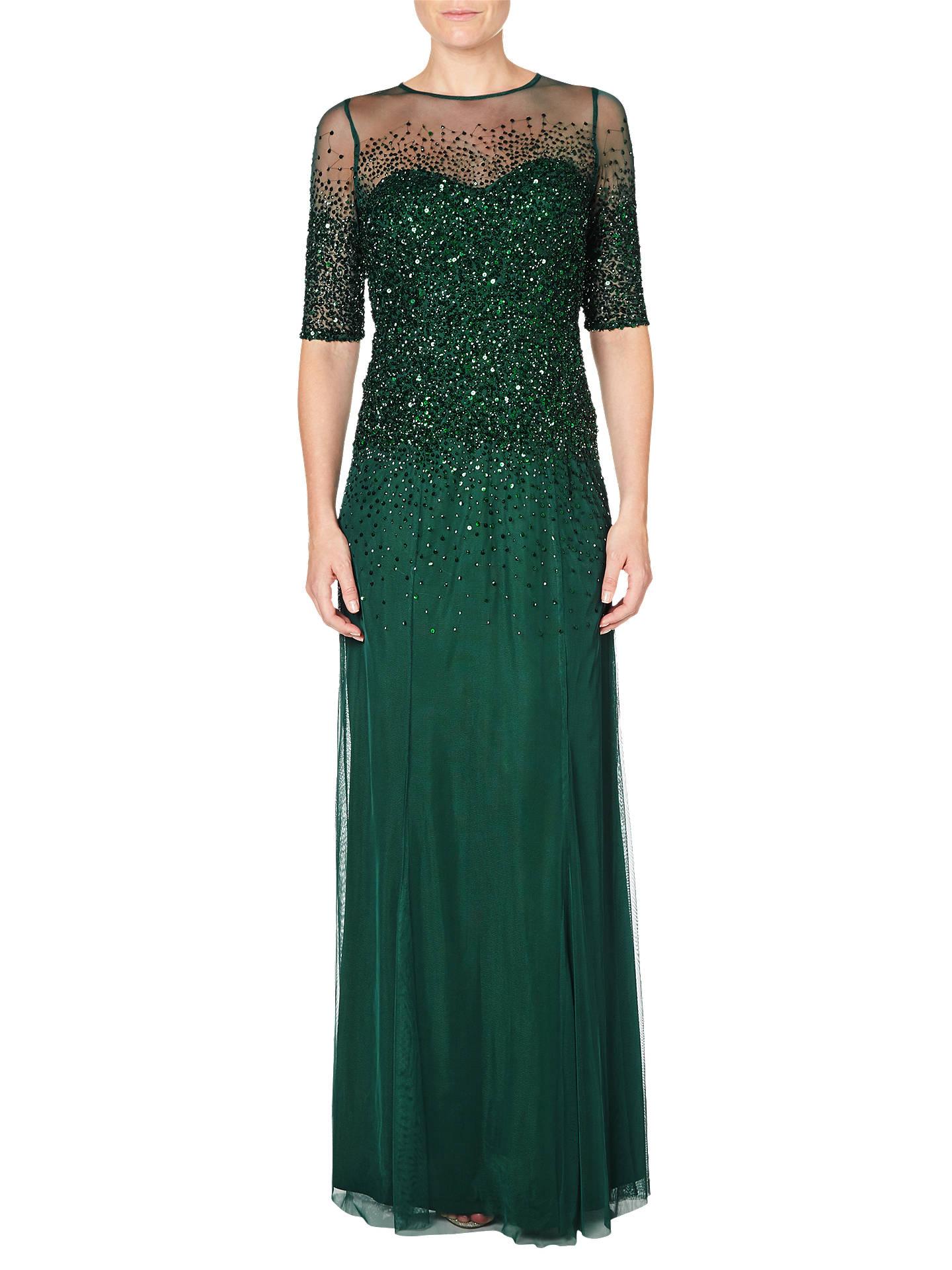 65d8f3ca6b0 BuyAdrianna Papell Beaded Illusion Short Sleeve Dress