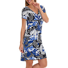 Buy Betty Barclay Floral Print Dress, Dark Blue/Cream Online at johnlewis.com