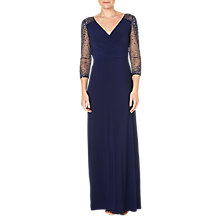 Buy Adrianna Papell Jersey Beaded Gown, Midnight Online at johnlewis.com