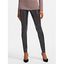 Buy Marc Cain Faux Leather Leggings, Black Online at johnlewis.com