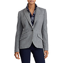 Buy Lauren Ralph Lauren Drosom Blazer, Sterling Grey/Cityscape Grey Online at johnlewis.com