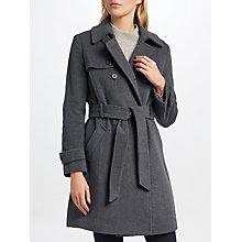 Buy Lauren Ralph Lauren Wool Blend Trench Coat, Grey Online at johnlewis.com