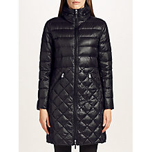 Buy Lauren Ralph Lauren Quilted Full Zip Coat, Black Online at johnlewis.com